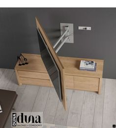 Open detail of the rotating TV panel for the living room – Sevgi- # open the