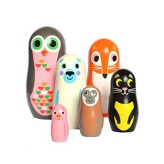 The Pippa and Ike Show - Animal nesting dolls set 2