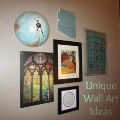 9 unique wall d cor ideas, wall decor  Love the half-globe clock!