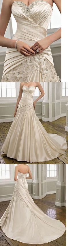 Wedding Dresses: New White/Ivory Wedding Dress Bridal Gown Custom Size 6 8 10 12 14 16 18 20+++ BUY IT NOW ONLY: $123.0