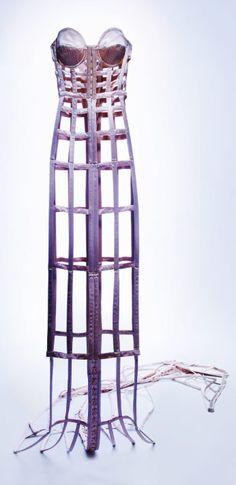 "Jean Paul Gaultier, 1985 ""cage"" dress"