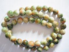 54 Perles de jade multicolore 8 mm : Perles pierres Fines, Minérales par mercerie-jewelry