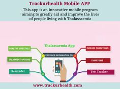 Thalassaemia Mobile APP - Trackurhealth This app is an innovative mobile program aiming to greatly aid and improve the lives of people living with Thalassaemia. Beta version of Trackurhealth app is available on iPhone App Store. Please download and try using the app.