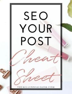 As Bloggers, we all know or at least have heard that SEO is extremely important to blogging. SEO or Search Engine Optimization is pretty much where you set your blog up to be found organically (via google search). Grab my SEO Cheat Sheet to start optimizing your site today! Make Money Blogging, Content Marketing, Social Media Marketing, SEO Traffic, SEO Hacks, SEO for Bloggers, Passive Incomehttp://themillennialsahm.com/seo-traffic-hacks/ #marketinghacks