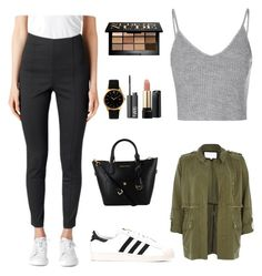 """Untitled #33"" by arielsepton ❤ liked on Polyvore featuring Glamorous, Bobbi Brown Cosmetics, Larsson & Jennings, adidas, River Island, NARS Cosmetics and Lancôme"