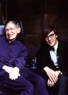 Benedict Cumberbatch and Stephen Hawking  Finally a bigger version of this, thanks!