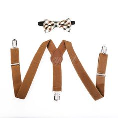 Brown-Fancy-Suspender-and-Bow-Tie-Set-for-Baby-Toddler-Kids-Boys-USA-Seller