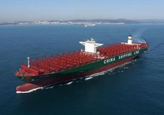 With a capacity to carry TEUs, the recently named MV CSCL Globe is the world's largest containership by cargo capacity. The newbuild for … Lng Carrier, Tanker Ship, Bizarre Pictures, Oil Tanker, Merchant Marine, Charter Boat, Armada, Sea And Ocean, Tall Ships