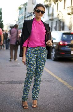 How To Rock Floral Pants | theglitterguide.com