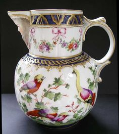 HIGHLY DECORATIVE PARIS PORCELAIN,'WORCESTER' STYLE MASK JUG - PROBABLY MADE BY SAMSON OF PARIS C.1880-1900