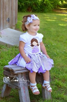 Fabric Tutu, PRINCESS SOFIA, Shabby Chic Tutu, Baby Tutu, Photo Prop Tutu, Childrens Toddler Halloween costume, Birthday Tutu, tutu