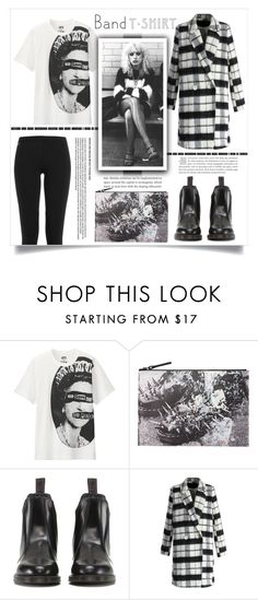 """""""I'm With The Band: Waiting For Sid"""" by leoll ❤ liked on Polyvore featuring Uniqlo, Dr. Martens, Chicwish, Polo Ralph Lauren, bandtshirt and bandtee"""