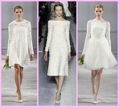 vestido de noiva curto branco