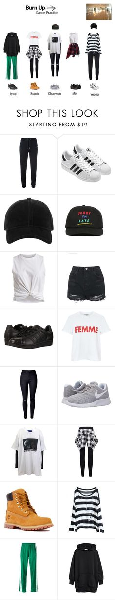 """Burn Up ~ Dance Practice"" by nsgirls ❤ liked on Polyvore featuring Zoe Karssen, rag & bone, Lazy Oaf, Vila Milano, Topshop, adidas Originals, Miss Selfridge, NIKE, Timberland and Étoile Isabel Marant"