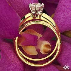 tiffany wedding ring set...love the gold!