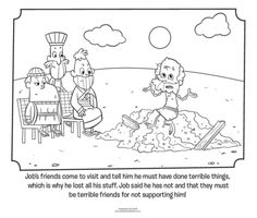 Job's Friends Visit - Bible Coloring Pages | What's in the Bible?