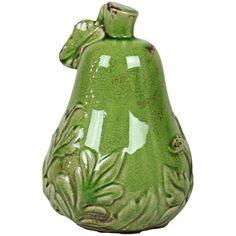 Pear Statuette VI in Antique Green