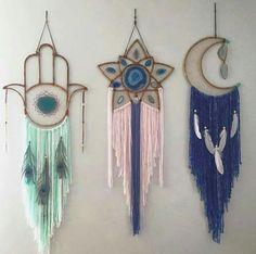 Hamsa, star, moon