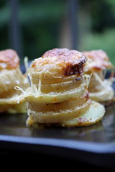 Individual Potato Gratins - perfect for winter and perfect for 1  or more...great starter for a party, too!