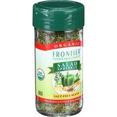 Frontier Herb Salad Sprinkle Organic Salt Free 1.23 Oz
