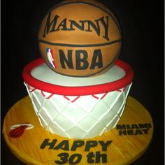 Miami Heat fan Birthday cake
