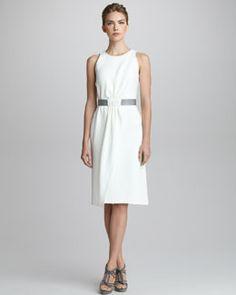 Giorgio Armani Silk Cady Sleeveless Dress