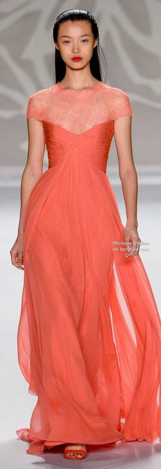 Monique Lhuillier Spring 2014 禄 #NYFW