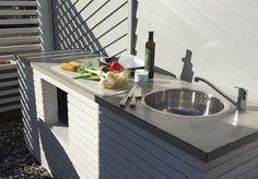 Bilderesultat for Utekjøkken Barbacoa, Terrazzo, Pergola, Bbq, Sink, Patio, Inspiration, Home Decor, Outdoor Kitchens