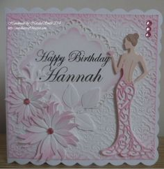 Beautiful woman cutting die for Scrapbooking Transparent Silicone Rubber DIY Photo Album Decor 18th Birthday Cards, Birthday Cards For Women, Handmade Birthday Cards, 60th Birthday, Art Deco Cards, Tattered Lace Cards, Dress Card, Making Greeting Cards, Embossed Cards