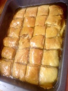 Baklava mal anders :) Hot Dog Buns, Hot Dogs, Pastries, Bread, Homemade, Food, Home Made, Tarts, Brot