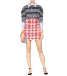 Miu Miu - Check wool-blend skirt - mytheresa.com
