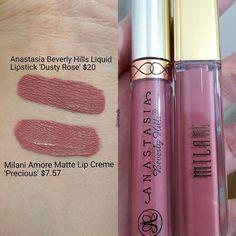 makeup mascaramake up makeup brushes beauty makeup MAC Kylie Cosmetics Wet n Wild cosmetics makeup products Dupe Makeup, Lipstick Dupes, Makeup Swatches, Skin Makeup, Prom Makeup, Liquid Lipstick, Lipsticks, Makeup Geek, Dusty Rose Lipstick