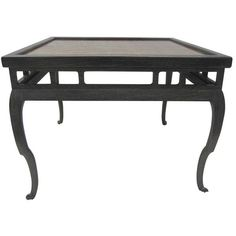 Preowned Chinese Style Tea Table In The Style Of James Mont (20,805 CNY) ❤ liked on Polyvore featuring home, furniture, tables, accent tables, multiple, glass table, glass side table, second hand furniture, chinese side table and gold leaf furniture
