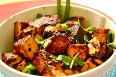 Vegan Hot Sticky Sweet Tofu - several more healthy recipes on this awesome blog.