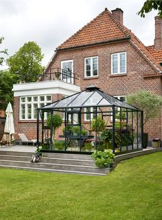 Conservatory Extension, Conservatory Garden, Cabana, Greenhouse Plants, Interior Minimalista, Glass Roof, Glass House, Outdoor Projects, Backyard Patio