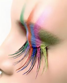 Gorgeous rainbow makeup concept.