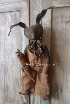 grungy primitives | ByThyHandsTinkerings: Ferguson Hare Now Available.... Great colors - very prim.