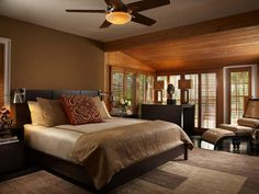 Bedroom. Warm colors.