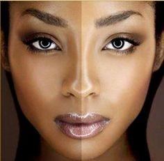 Cara negra: Las mujeres que sean de raza negra tampoco es que tengan muchos problemas a la hora de encontrar un color de maquillaje que les vaya bién, aunque cuidado porque la verdad es que habitualmente las firmas no suelen tampoco sacar tonos que sean muy oscuros. De todos modos, los podéis encontrar y además es recomendable que vuestra base de maquillaje sea mínima.