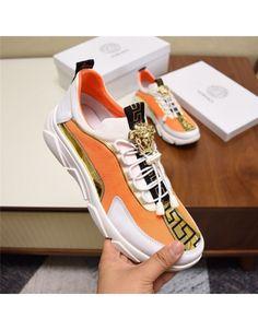 Versace Casual Shoes For Men Versace T Shirt, Versace Shoes, Fashion Slippers, Fashion Shoes, Mens Fashion, Gucci Mens Sneakers, Versace Fashion, Casual Shoes, Tennis