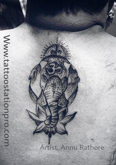 More info Tattoo 2017, Ganesha Tattoo, Shree Ganesh, Ganpati Bappa, Dots Design, Tattoos, Art, Art Background, Tatuajes
