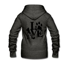 IN Desing | Hunde Katze - Frauen Premium Kapuzenjacke Hoodies, Sweatshirts, Sweaters, Shop, Fashion, Cat Women, Vest, Pet Dogs, Jackets