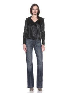 80% OFF Drifter Drift Away Women\'s Salem Synthetic Contrast Jacket (Black)