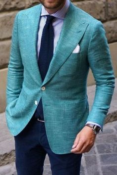 3 Mind-blowing Ways for Styling Sports Jackets! Blazer Outfits Men, Blazer Fashion, Mens Fashion Suits, Mens Casual Suits, Mens Suits, Men Dress Up, Designer Suits For Men, Sports Jacket, Well Dressed Men