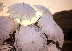 lace edged umbrella's