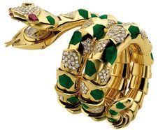 Bulgari snake bracelet and watch