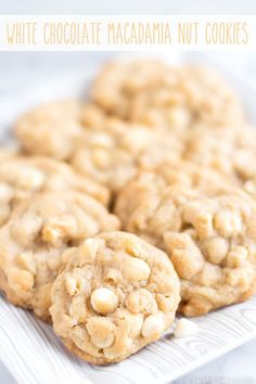White Chocolate Macadamia Nut Cookies – a perfect combo, white  chocolate chips and macadamia nuts, packed into a chewy, bursting with  flavor, cookie; take a bite out of paradise.