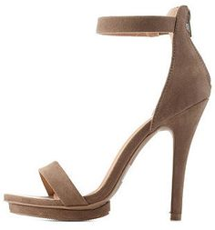 Wild Diva Lounge Single Strap Mini-Platform Heels