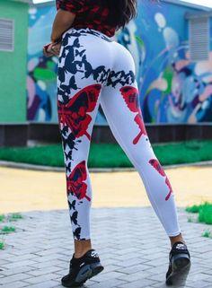 5cf4ef11b342 butterfly-digital-print-hip-raise-elastic-high-waist-yoga-leggings. Sports  TrousersSports ...