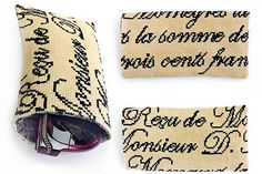 Inspired by antique French letters from the Victorian era, this cross stitch glasses case pattern will add a refined sophistication to any pair of sunglasses or eye glasses.